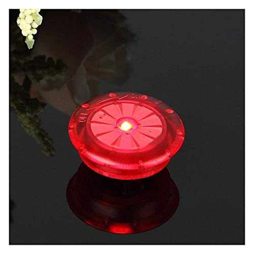 電池の自転車の光のライトタイヤバルブキャップホイールスポークLEDバイクライト山ロードバイク自転車アクセサリー// 42 BY CHJBD (Color : Red)