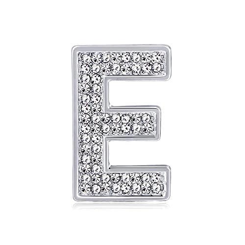 Brosche Damen Englisch Buchstabe E Brosche High-End-Brosche Strass Andere Frauen Diamant E Brief Damen Brosche Bekleidungszubehör Brosche, geeignet for Damen mit wunderschönen oder lässigen Anlässen G