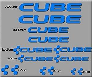 Ecoshirt 43-V8EI-I0HM Sticker Cube UCI Vinyl Sticker Decal Sticker Muursticker MTB Bike