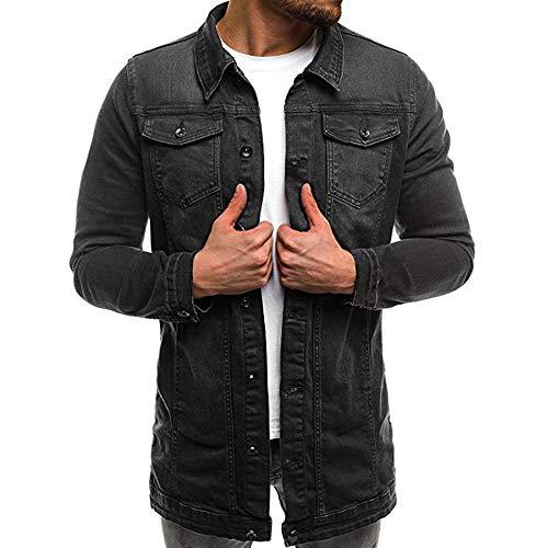 WWricotta Tops Herren Jeansjacke Retro Destroyed Classics Denim Jacket Herbst Winter Jeans Jacke Winterjacke Mantel