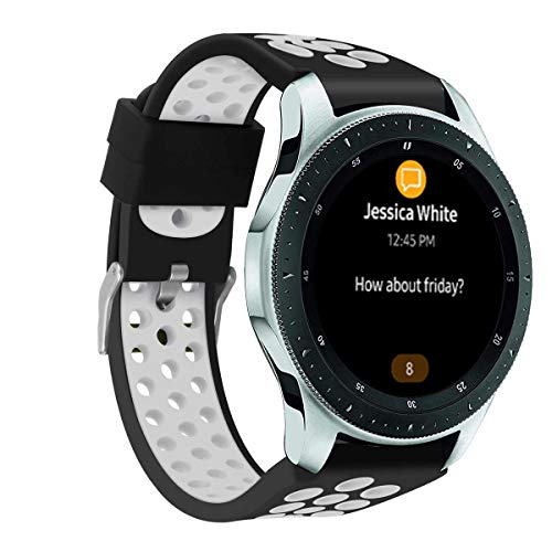 Correa deportiva de 22 mm compatible con Samsung Galaxy Watch 46 mm/Gear S3/Huawei GT 2 correa de repuesto Soft Quick Release bandas deportivas transpirables DE91012 (#3)
