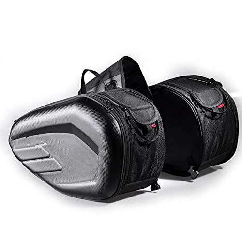Bolsa lateral de la motocicleta Bolsa de sillín Bolsa lateral de motocicleta Bolsa de casco bilateral Bolsa de viaje multifunción 600d Oxford tela impermeable, capacidad de una sola cara 29 litros