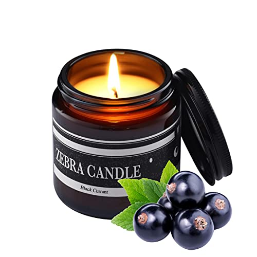 Black Currant Scented Candle for Home | 3.5oz Premium Soy Candles 30 Hour Burn Relaxing Aromatherapy Candle | Fresh Tropical Fruit Scent