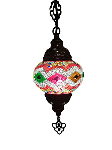 Mosaico Lampe (lampada) Turco Ø 13cm parati orientale lampada