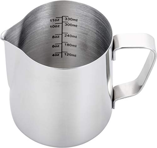 Espresso Steaming Pitcher 12 ozEspresso Milk Frothing Pitcher 12 ozCoffee Milk Frothing CupCoffee Steaming Pitcher 12 oz/350 ml