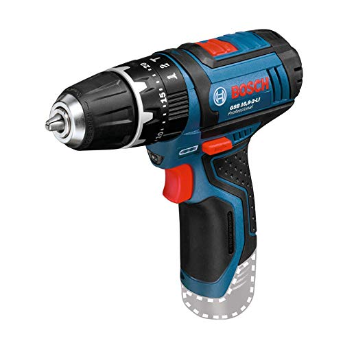 Bosch Professional 12V System Cordless Combi Drill GSB 12V-15 (without battery and charger, 1/2 L-BOXX inlay for tool and charger, Cardboard box)