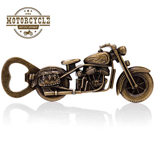 Cacukap Vintage Motorrad-Flaschenöffner, einzigartiges Motorrad-Biergeschenk für Herren.