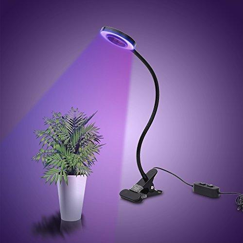 Horifen Erstellbar 10W LED Pflanzenlampe Wachstumlampe 2-Stufe Helligkeit für Zimmerpflanzen Hydroponik Gewächshaus
