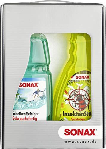 Preisvergleich Produktbild SONAX SommerSet 2-teilig,  ScheibenReiniger gebrauchsfertig Ocean-fresh (1 Liter) & InsektenStar (750 ml) schonend und gepflegt durch die heiße Jahreszeit / Art-Nr. 07654410