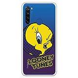 Funda para Xiaomi Redmi Note 8T Oficial de Looney Tunes Piolín Guiño Transparente para Proteger tu móvil. Carcasa para Xiaomi de Silicona Flexible con Licencia Oficial de Warner Bros.