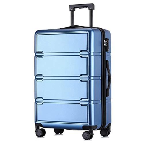 TYUIO Equipaje de Mano, Maleta Trolley con Ruedas giratorias Equipaje liviano y Duradero para Viajes, Negocios (Color : Azul, Tamaño : 20)