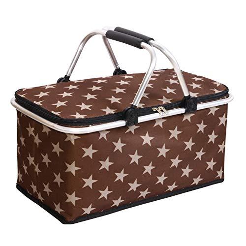 Picknickmanden 4 Persoons 45L Grote Capaciteit Draagbaar Inklapbaar Geïsoleerd Winkelmandje Brengt Uw Gezin Een Heerlijk Weekendje Weg,D-47 * 28 * 37CM