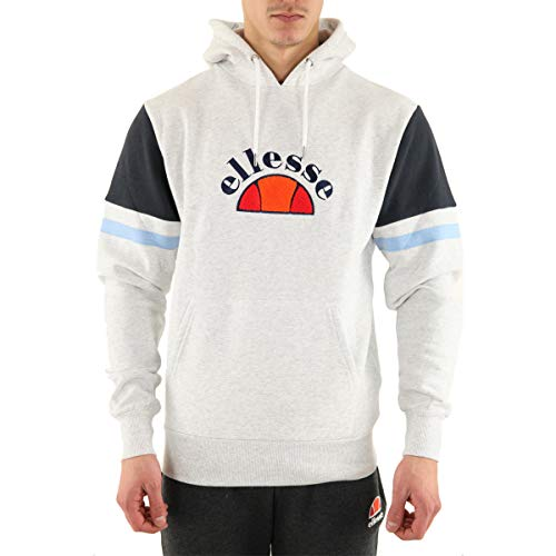 ellesse Petto Over The Head Hoodie - Grey White Marl-L