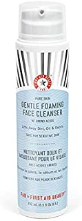 First Aid Beauty Pure Skin Gentle Foaming Face Cleanser with Amino Acids, 6.5 Ounces