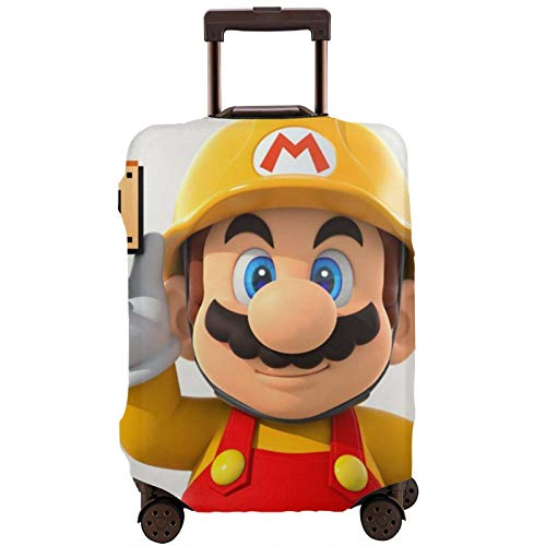 Super Mario Game Travel Maleta Cubiertas Protectores Cremallera Lavable Equipaje Equipaje Cubiertas