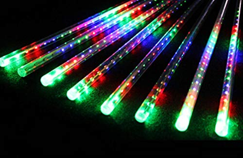 kengbi Christmas Indoor and Outdoor Tree Room DecorLigh New Year 30/50cm Outdoor Meteor Shower Rain 8 Tubes LED String Lights Waterproof for Tree Christmas Wedding Party Decoration