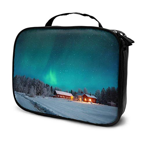 Aurora Borealis Travel Cosmetic Bag Storage Cosmetic Bags Make Up Bag Multifunction Printed Pouch for Women
