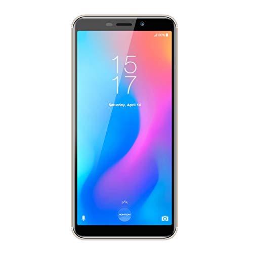 HOMTOM C2 MTK6739 Ouad Core - Teléfono móvil Android 8.1 (5,5 pulgadas, 2 GB de RAM, 16 GB ROM, carga rápida, 3000 mAh), color dorado