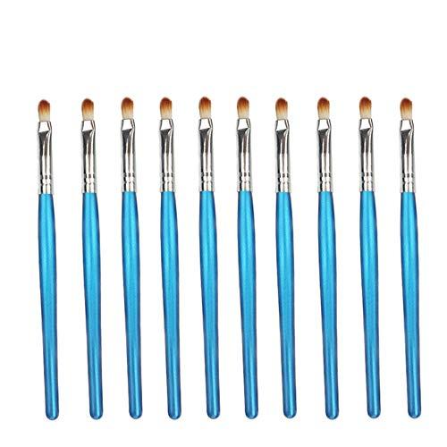 Jetable, commodité 10pcs / sac, 5 sacs en 1 Pack, 50pcs pinceau à lèvres rouge à lèvres brillant bâton applicateur maquillage pinceau outils design de mode Pinceaux à lèvres (Color : Blue Silver)
