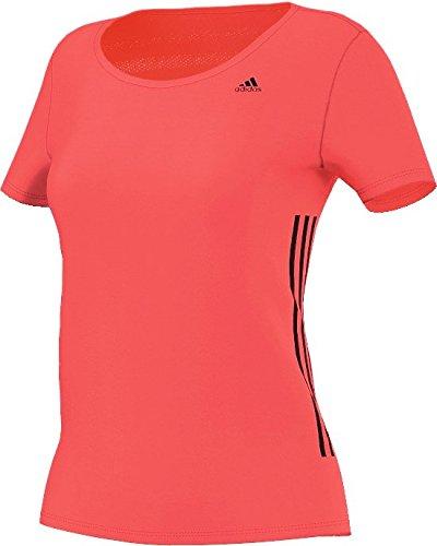 adidas Gym tee - Camiseta para Mujer, Color Rojo/Negro, Talla S