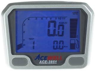 Acewell ACE 3851 Quad / ATV Tachometer mit Drehzahlmesser und Kraftstoffanzeige speziell für den Yamaha YFM660R und YFM700R Raptor