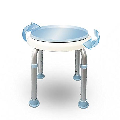 LJHA Tabouret pliable Tabouret rotatif créatif/chaise en aluminium de bain d'alliage/tabouret réglable de salle de bains chaise patchwork