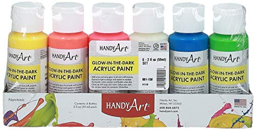 Handy Art 6 color - 2 ounce Glow in the Dark Acrylic...