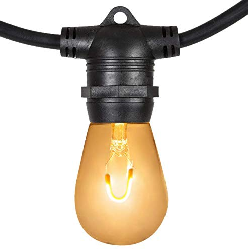 GF String Lights LED Vintage Light Bulbs Outdoor Patio Garden Lights FlexFilament Size 10 Lights, 30 Feet, Inline MG030