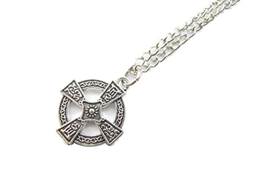 Double Sided Cross Necklace, Mens Warrior Cross,Celtic Cross Necklace,Cross Formy, Mens Trinity Cross