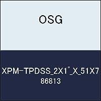 OSG テーパエンドミル XPM-TPDSS_2X1゚_X_51X7 商品番号 86813