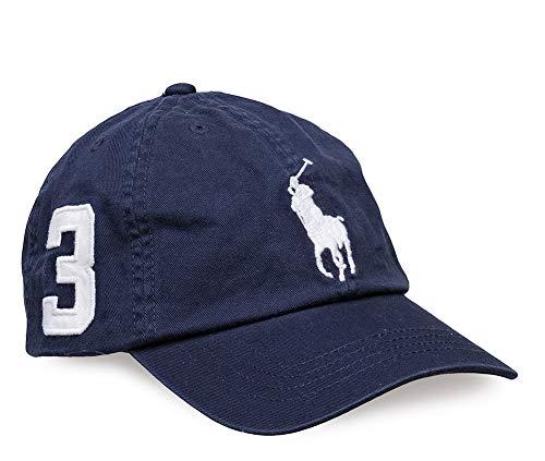 Polo Ralph Lauren Boys Big Pony Logo Adjustable Hat Ball Cap (2T-4T, Navy)