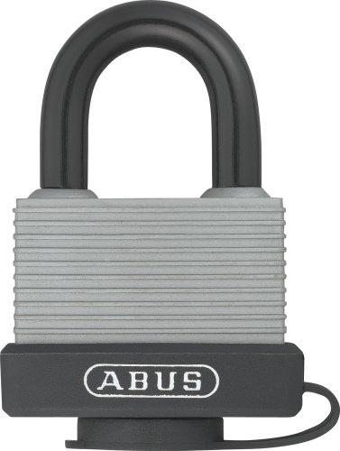 ABUS 49976 Vorhängeschloss 70AL/45 aus massivem Aluminium - wetterfest - mit Schutzkappe und Kunststoffummantelung - gleichschließend 6401 - Silber