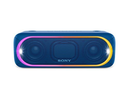 Sony SRS-XB30B - Altavoz inalámbrico portátil (Bluetooth, NFC, Extra Bass, 24h de batería, Wireless Party Chain, luz Lineal Multicolor, Flash estroboscópico) Color Negro