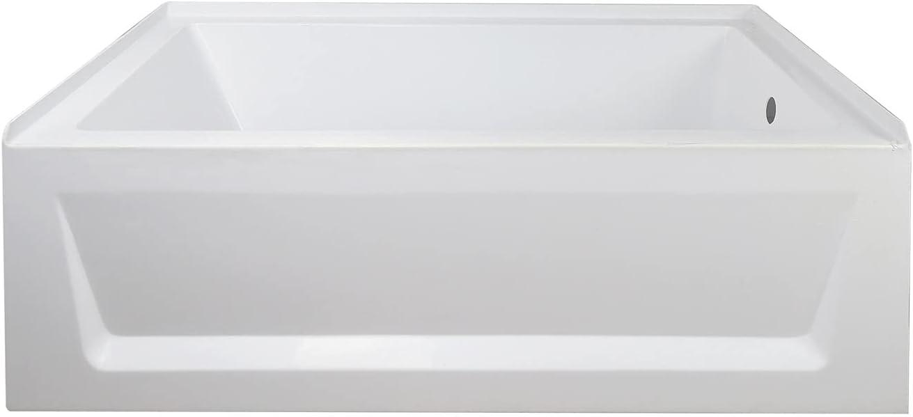 Buynow 60-Inch Fees free!! wholesale Alcove Bathtubs White Cer Bathtub Acrylic Soaking