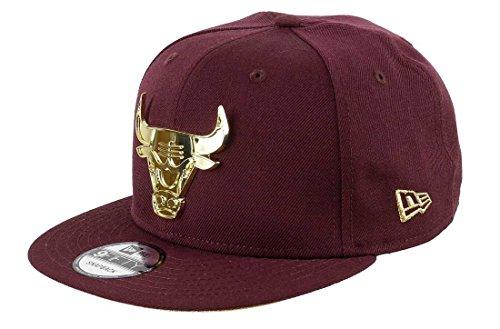 New Era Chicago Bulls Gold Metal Badge 9fifty Cap One-Size