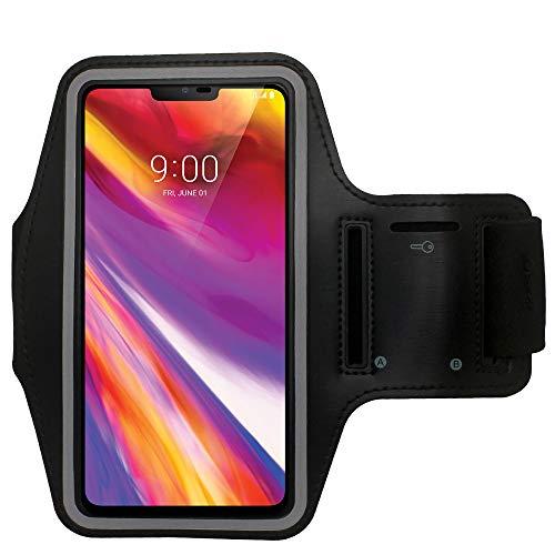 CBUS - Brazalete Deportivo Correr y Entrenar, para Xiaomi Mi 10/10 Pro/10T/10T Lite/10T Pro/Poco X3 NFC/Redmi 9/9C, Redmi Note 9/9S/9Pro (Negro)