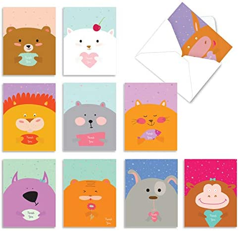 10 All Occasion 'Fur You' Thank You Cards...