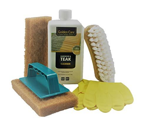 Golden Care Cleaner Set Holz Reiniger Holzschutz Holzpflege für Gartenmöbel