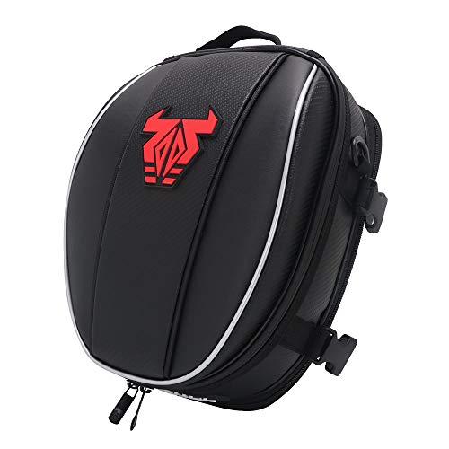 Motorrad-Hecktasche - Wasserdichte Gepäcktasche Sitztasche Motorrad-Satteltaschen Multifunktionale Fahrradtasche Sportrucksack-Rot