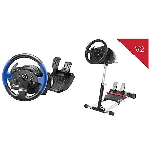 Thrustmaster T150 Force Feedback Volante - PS4/PS3/PC + T300-TX DELUXE, simulatore di guida