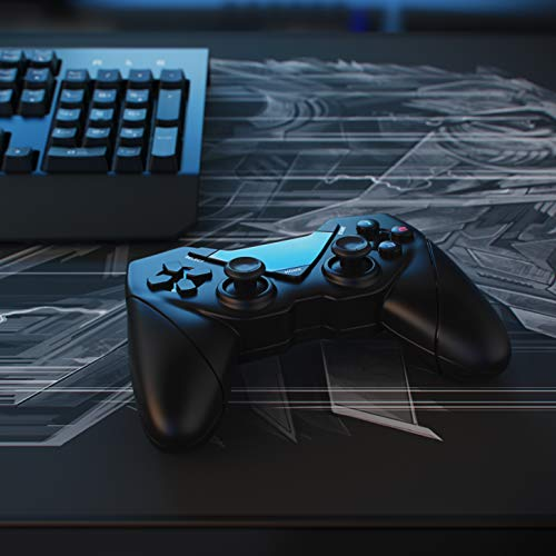 CSL - Wireless Gamepad für PC und Android - Controller mit Dual Vibration - Plug and Play - Direct Input X-Input - Gaming Joypad