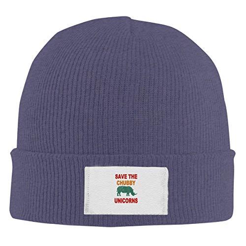 Speichern Sie die molligen Einhörner Strickmützen Beanie Caps Fashion Unisex Winter Navy
