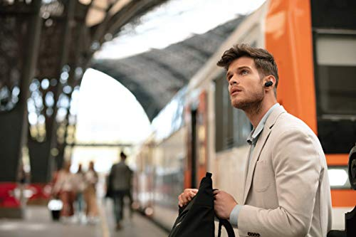 Sony WF-1000XM3 Truly Wireless Noise Cancelling Headphones with Mic, up to 32H battery life, stable Bluetooth connection, wearing detection, Black, One Size, with Alexa built-in - Black