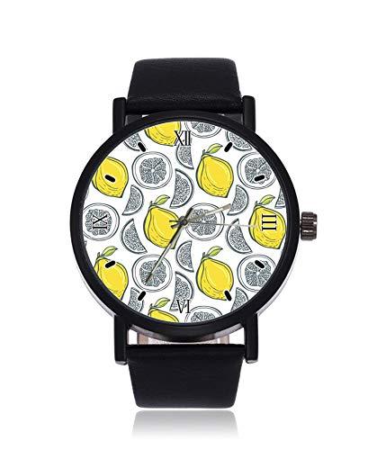 Reloj de Pulsera para Hombre y Mujer con diseño de Limones Amarillos...