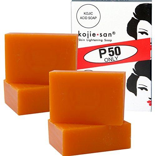 4 Bars Kojie San Kojic Acid Soap Soap 65 grams per bar original kojiesan for dark skin
