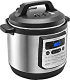 Insignia- 8-Quart Multi-Function Pressure Cooker - Stainless Steel