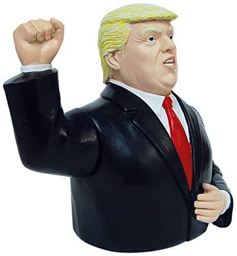 """Winke-Trump, batteriebetrieben, handbemalt 16,5 x 14 x 8,8 • 40588 \'\'Winke-Raubkatze\""""Trumpeltier\"""" – Lieferung in einer aussagekräftig bedruckten Geschenkverpackung\'\' • Künstler: INKOGNITO"""