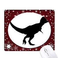 恐竜の化石骨ブラック オフィス用雪ゴムマウスパッド