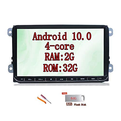XISEDO Android 8.1 Autoradio 9 Zoll Car Radio Autonavigation RAM 2G ROM 32G Car Stereo GPS Navigation mit 1024 * 600 Touchscreen Universell für Volkswagen/Skoda/Seat
