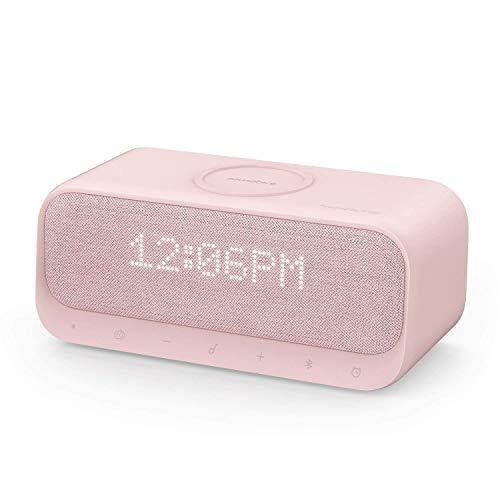 Soundcore Wakey Bluetooth Lautsprecher, Powered by Anker mit 10W Schnellladetechnologie Ersatz für Galaxy,QI Kabelloses Laden für 7,5W iPhone Ladungen (Rosa) (Generalüberholt)